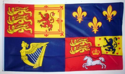 ROYAL BANNER 1714-1801 HOUSE OF HANOVER - 5 X 3 FLAG
